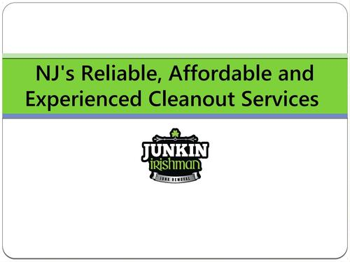 Contact at the Most Reliable & Affordable Cleanouts in NJ