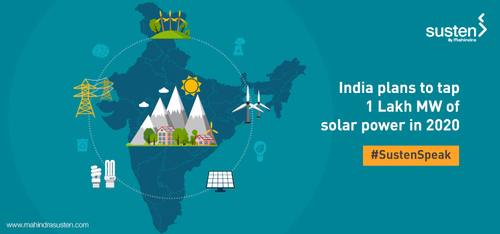 India plans to tap 1 Lakh MW of solar power in 2020 - Mahindra Susten