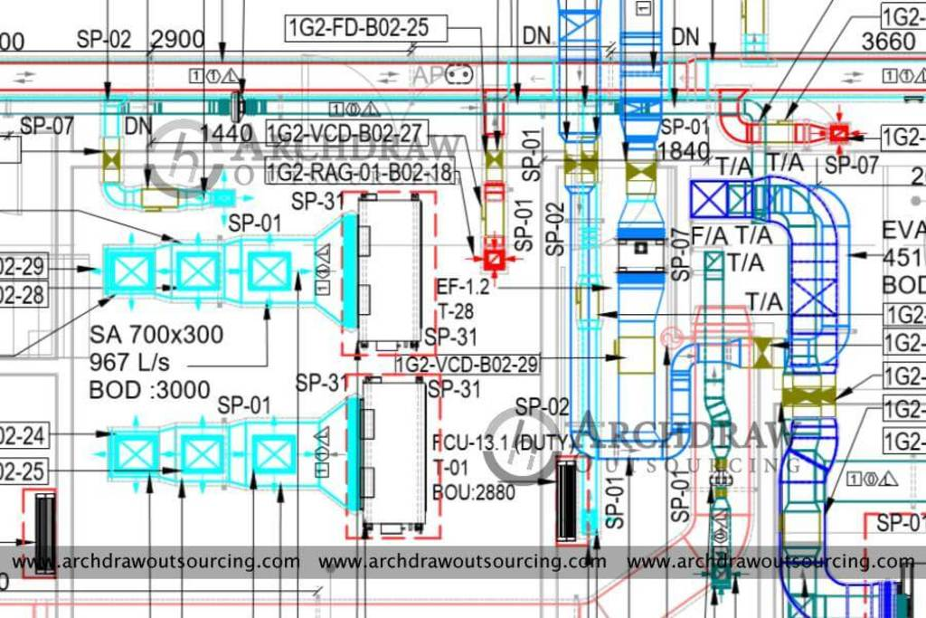 High accurate HVAC Duct Shop Drawings services in Australia via C.Chudasama