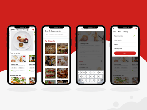Search and Filtering Flow Screens For Customer Food Delivery... via XongoLab Technologies LLP
