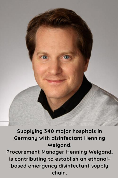 Supplying 340 major hospitals in Germany with disinfectant H... via Henning Weigand