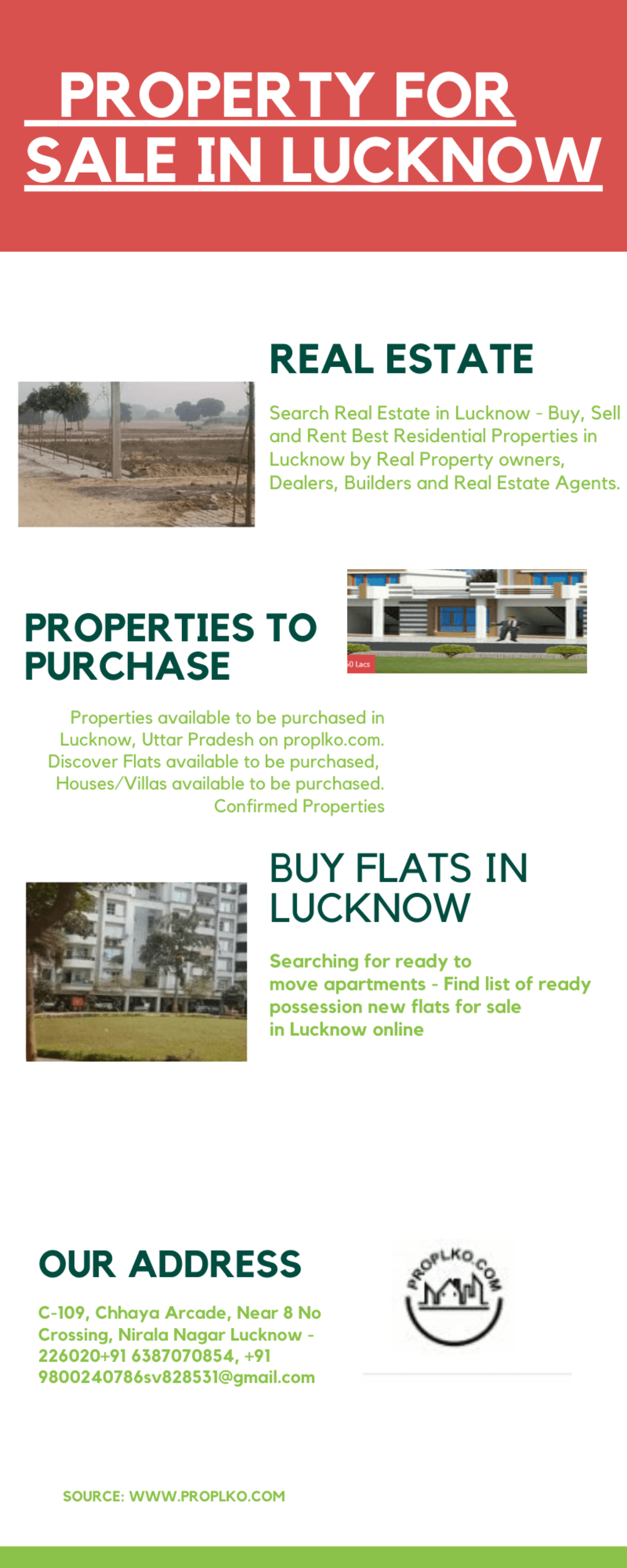 PROPERTY FOR SALE IN LUCKNOW via pro lko