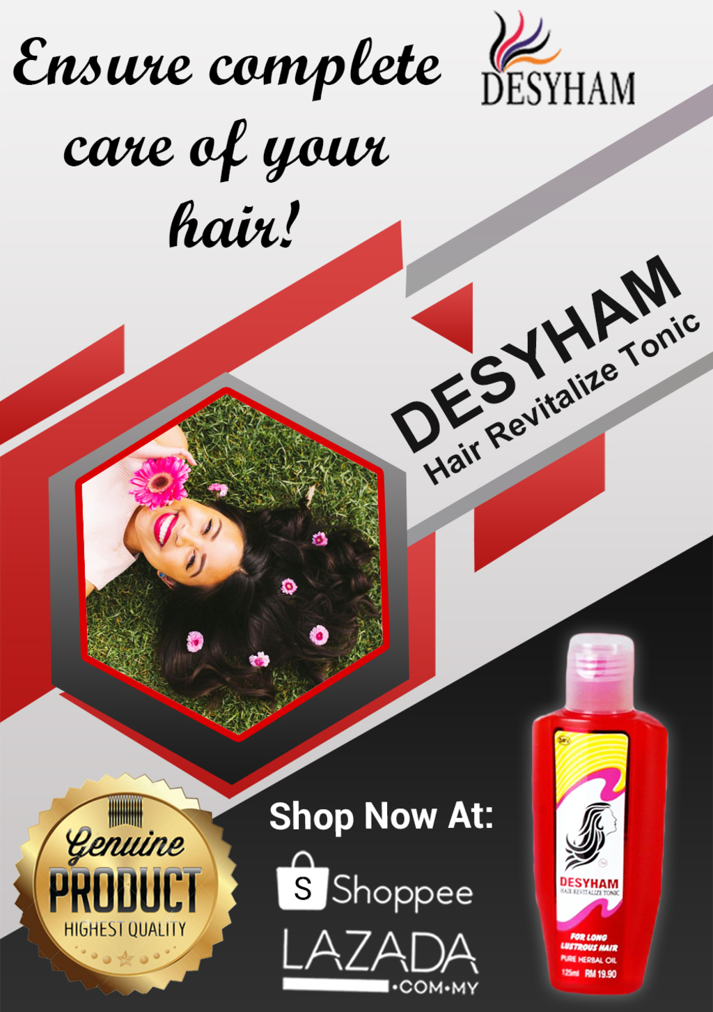 Give your hair a magical regrowth as it is farewell time for... via Desyham