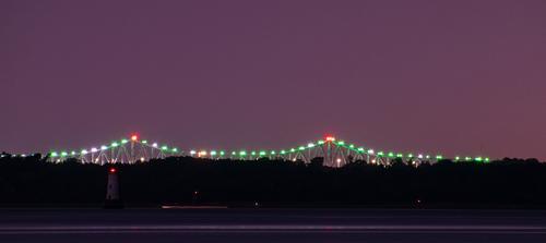 Bridge Lights via Steven Hughes