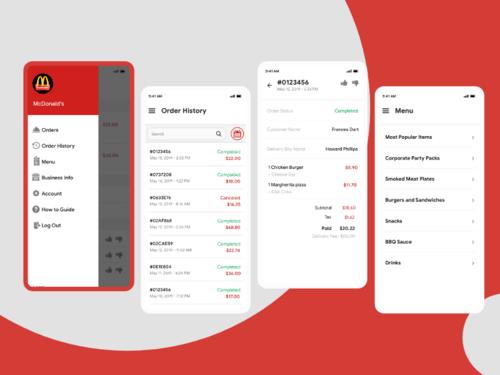 Navigation Screens For Restaurant Food Delivery App