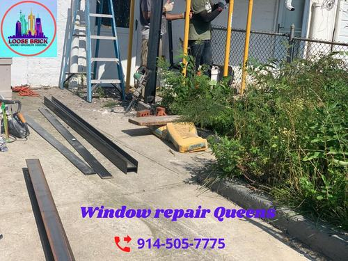 window lintel waterproofing Brooklyn via Loose Brick