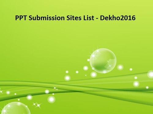 SEO PPT Submission Sites List 2020
