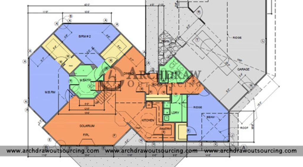 Architectural Floor Plan Services via C.Chudasama
