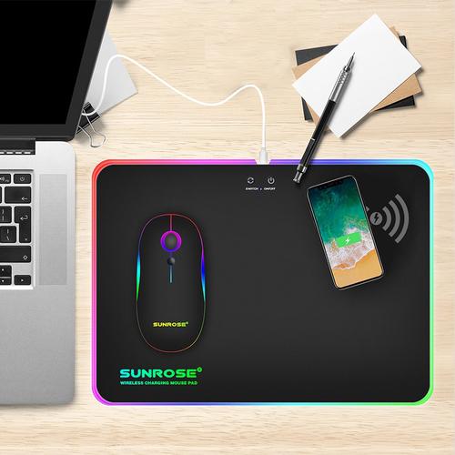 35.2x25.5cm Wireless Charging Luminous Mouse Pad Gaming Anti... via Stash&StowFlair