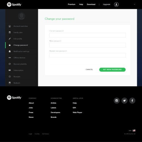 A Guide to Change or Reset Your Spotify Password via Daniel Ryan