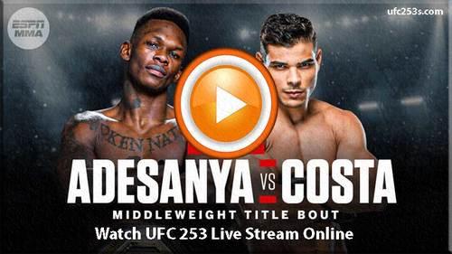 UFC 253 Live Stream Online and News Updates Information