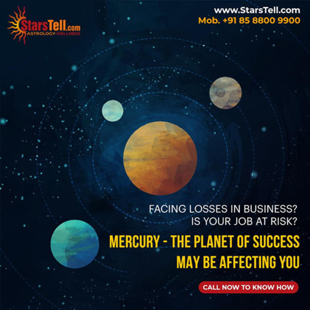 Mercury - The Planet of Success May be Affecting You via StarsTell US