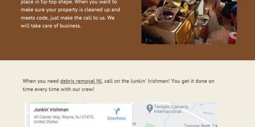 Explore Affordable Debris Removal in NJ - Junkin' Irishman - Infogram