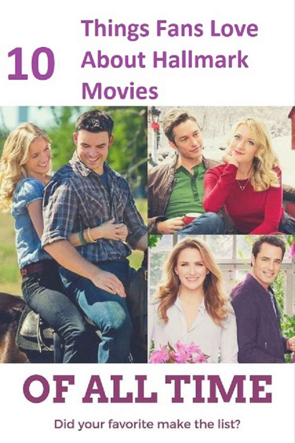 10 Things Fans Love About Hallmark Movies                                                                                                                           Hallmark Channel... via Bobby clarke