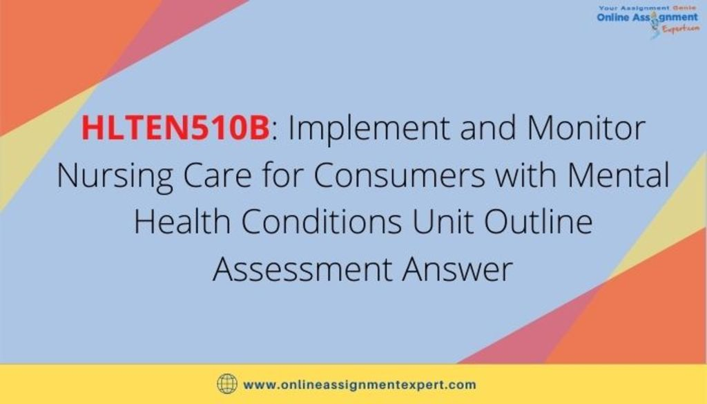 Implement and Monitor Nursing Care for Consumers with Mental... via Koby Mahon