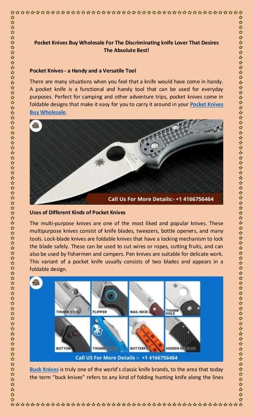 Pocket Knives Buy Wholesale For The Discriminating knife Lover That D…