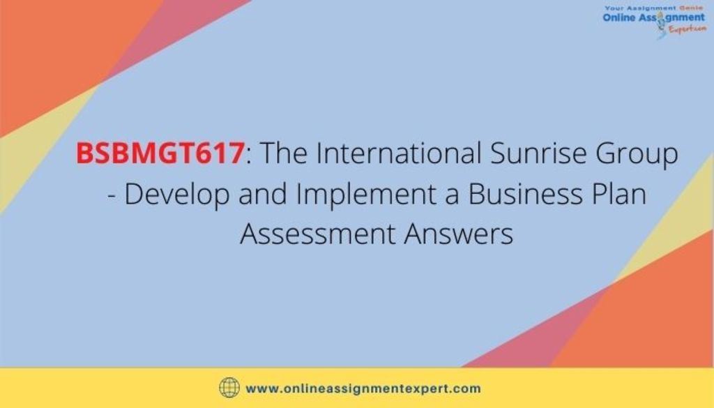 The International Sunrise Group – Develop and Implement a Bu... via Koby Mahon