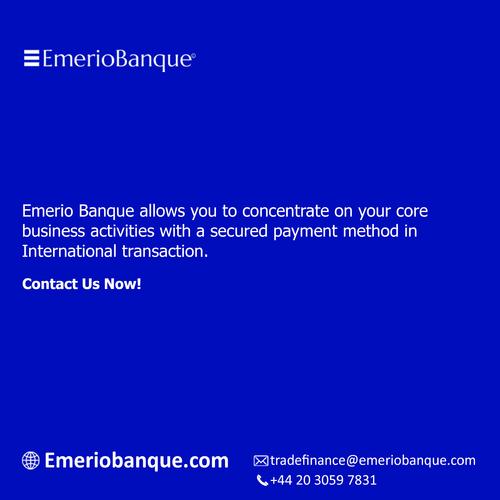 Secured payment method in international transaction - Emerio... via Emerio Banque