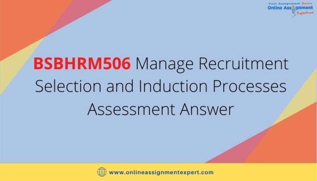 BSBHRM506 Manage Recruitment Selection and Induction Process... via Koby Mahon