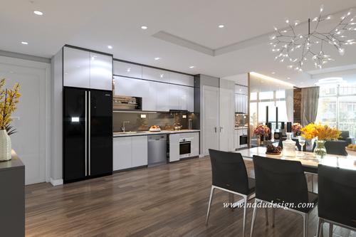 6 nguyên tắc thiết kế nội thất phòng bếp chung cư đẹp hiện đại