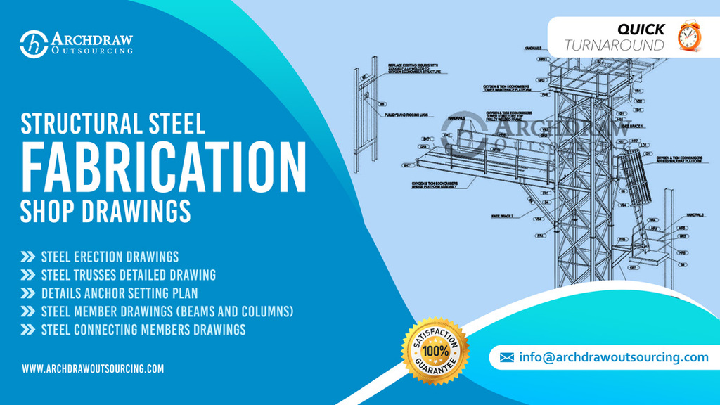 Steel Fabrication Shop Drawings via C.Chudasama