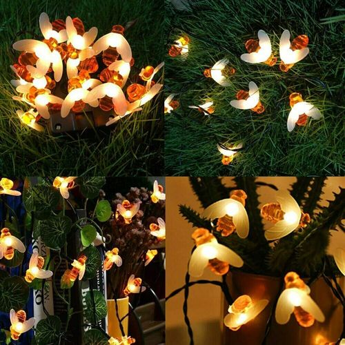 Honey Bee String Light Christmas Garland Decoration Outdoor ... via Stash&StowFlair