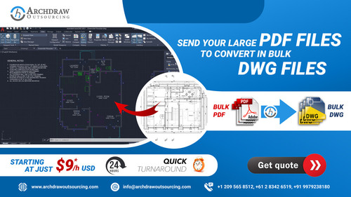 Bulk PDF to DWG Conversion via C.Chudasama