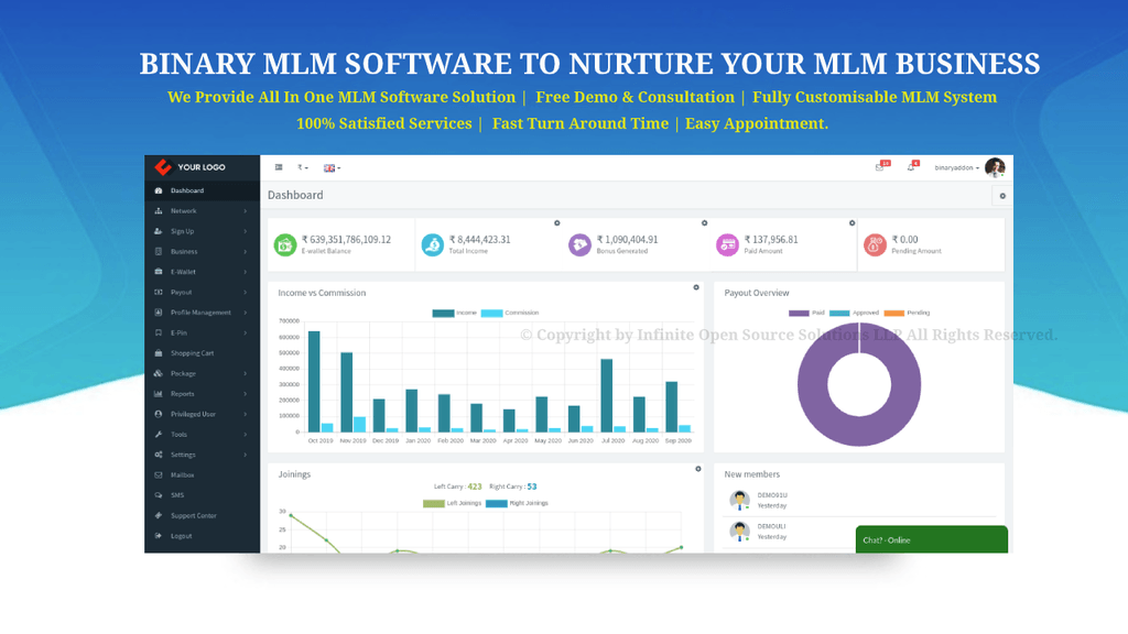 Binary MLM Software To Enhance Your MLM Business via Infinite MLM Software