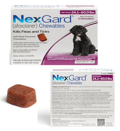 Nexgard for Large Dogs 24.1-60 lbs (Purple) - EasyVetsSuppli... via Easyvetsupplies