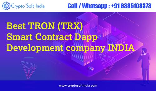 Best TRON TRX smart contract Dapp Development company India-... via Crypto Soft India