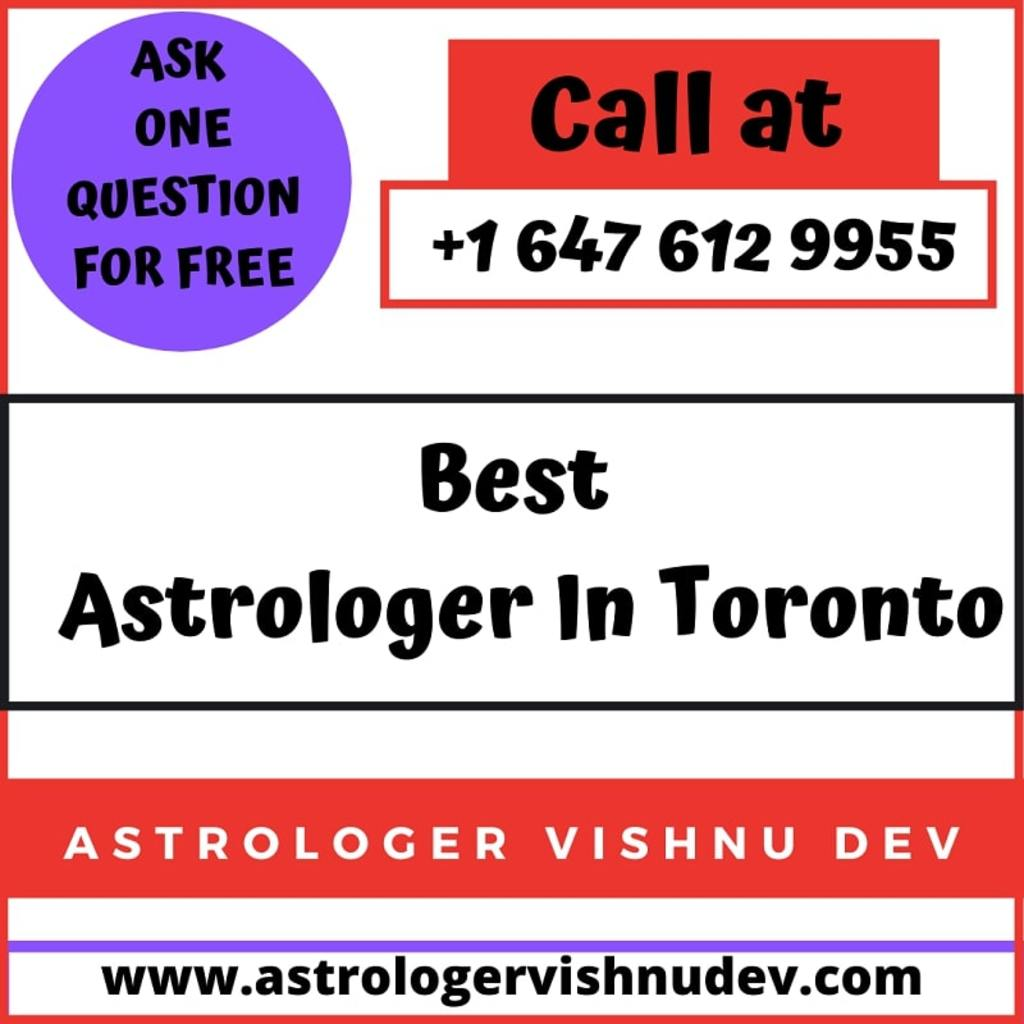 Are You Looking For The Famous Astrologer In Toronto? via Astrologer Vishnudev