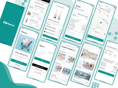 UI/UX Design Of Pharmacy Delivery App For Customer