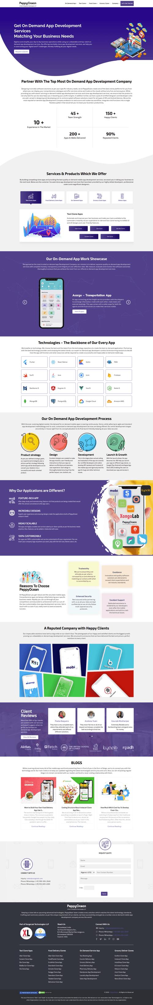 New Website with Stunning Design - PeppyOcean