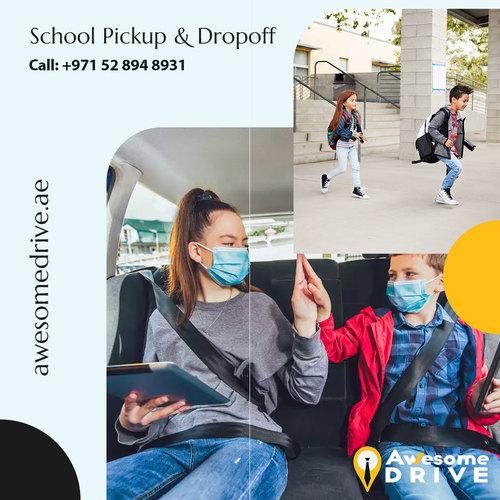 Private driver 🚌👨✈️ for 🏫🎒 school pick up and drop serv... via Safe Driver Dubai