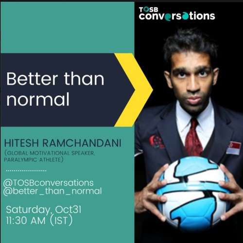 TOSB Talk Hitesh Ramchandani Global Motivational Speaker via TOSB
