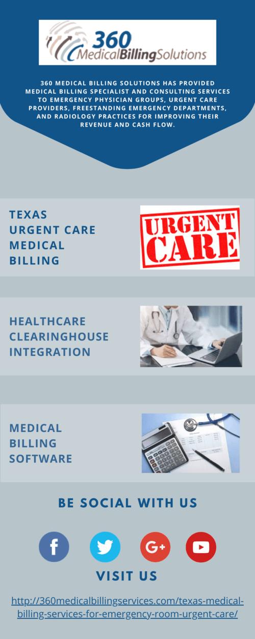 Texas Urgent Care Medical Billing - 360 Medical Billing Solu... via 360 Medical Billing Solutions