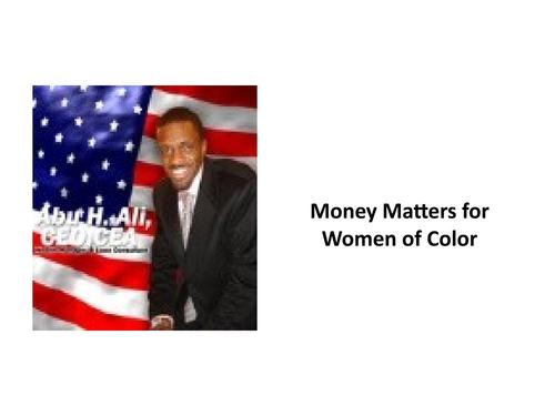 Money Matters for Women of Color