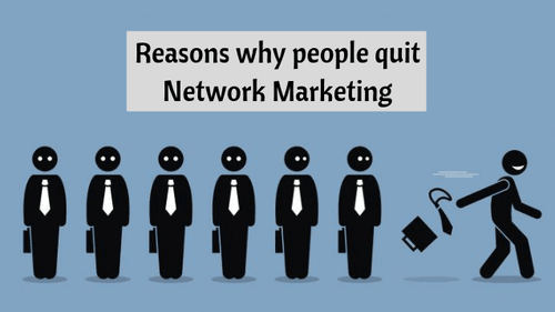 Did you know the reason why most people quit network marketi... via Infinite MLM Software