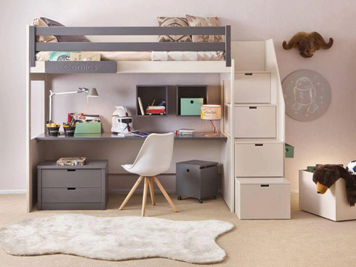 If your bedroom just doesn't exceed 15 square meters, a bunk... via Platform Bed Expert