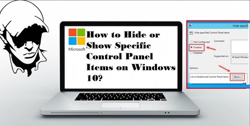 How to Hide or Show Specific Control Panel Items on Windows ... via sjon5719