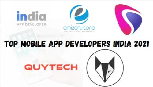Top Mobile App Developers India 2021 via Kaira Verma