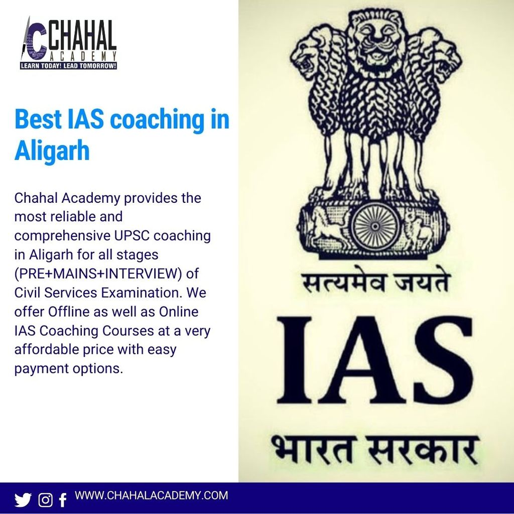 Best IAS Coaching in Aligarh  - Chahal Academy via Chahal Academy