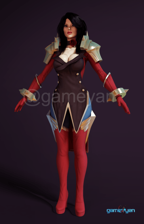 Character Modeling and Texturing Studio by Gameyan - Female ... via Gameyan