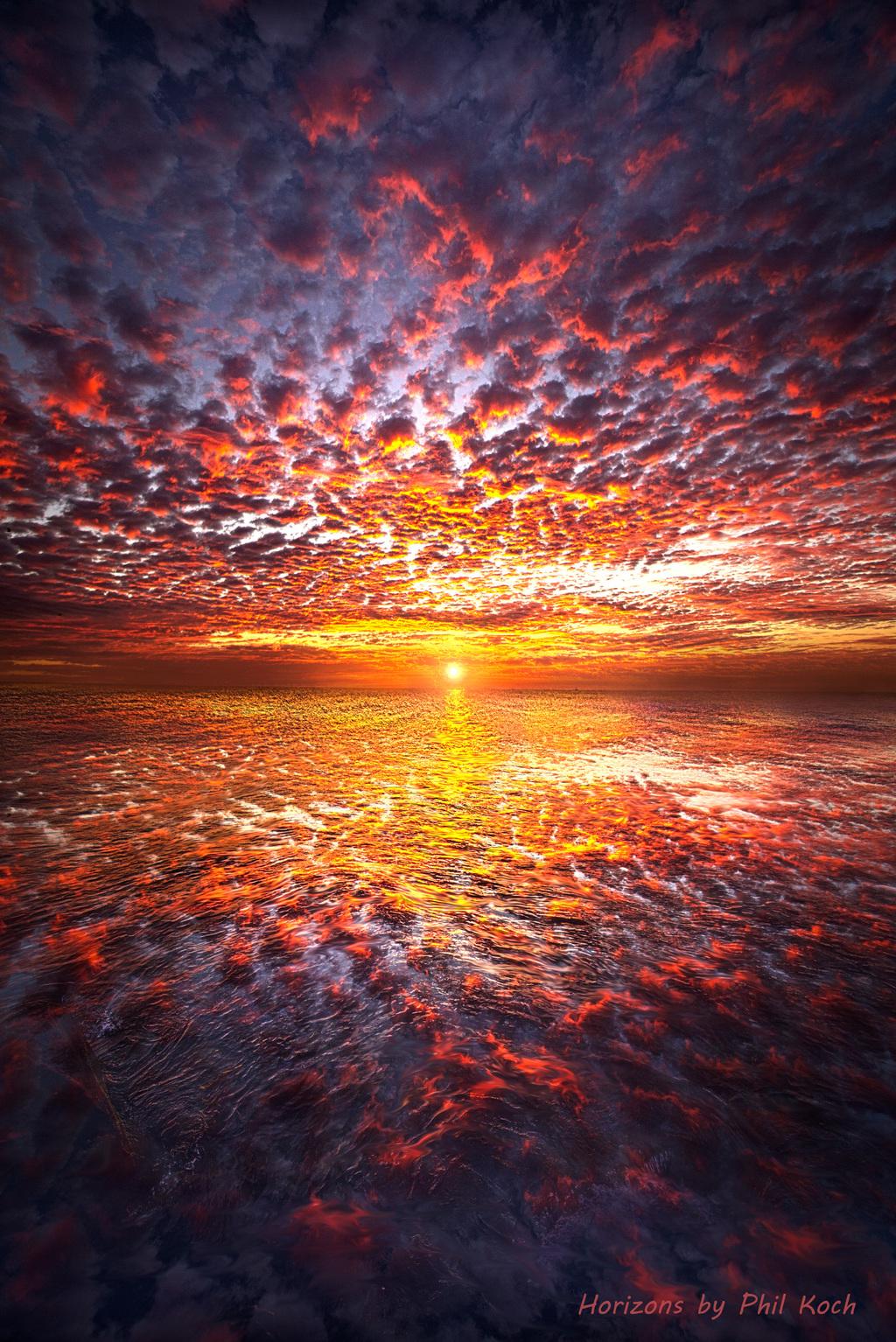 Sunrise on the shore of Lake Michigan in Wisconsin.                                         Wisconsi... via Phil Koch