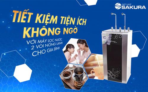 Tiết kiệm tiện ích với máy lọc nước 2 vòi nóng lạnh cho gia đình!