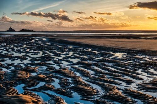 Sunset in Dragey via Jean Michel