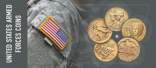 United States Armed forces coins | via Sandra Ikonn