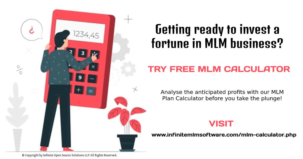 Try Free MLM Calculator - Free MLM Plan Calculator via Infinite MLM Software