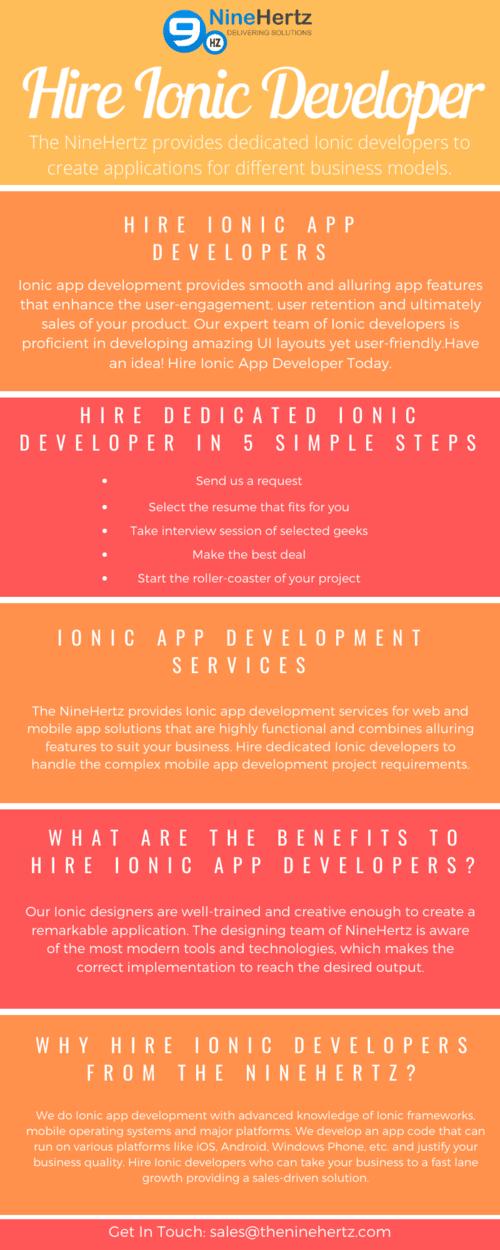 Hire ionic developers via The NineHertz