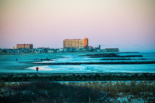 Winter Evening at the Beach via Steven Hughes